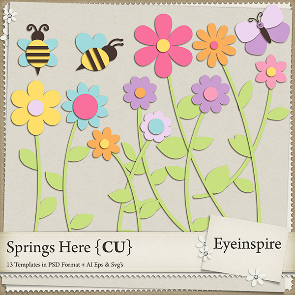 Layered Flower Template Templates Layered Spring