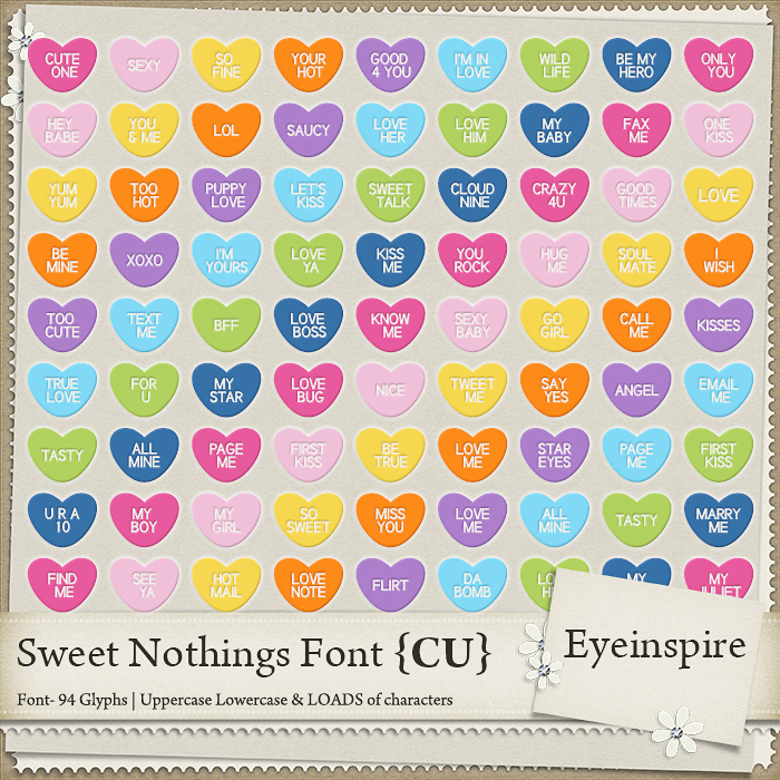 digital scrapbooking, hot air gallons, flower, strawberry, strawberries, hearts, arrows, font, dingbat, otf, ttf, conversation hearts, sweethearts, commercial use, extended use, eyeinspire
